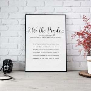 The Preamble to the Constitution of the United States of America - Printable